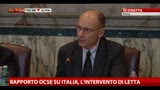 02/05/2013 - Rapporto OCSE, l'intervento di Enrico Letta