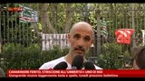 04/05/2013 - Carabiniere ferito, striscione all'Umberto I: uno di noi