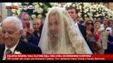 06/05/2013 - Valeria Marini,sull'altare dell'Aracoeli in Ermanno Scervino