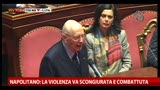 09/05/2013 - Napolitano: la violenza va scongiurata e combattuta