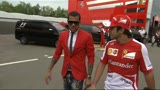 09/05/2013 - F1, Dani Alves e Felipe Massa al Montmel