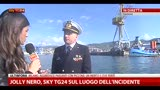 11/05/2013 - Jolly Nero, SkyTG24 sul luogo dell'incidente