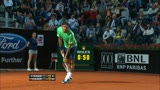 15/05/2013 - Roma: Starace non pu nulla contro Federer, ko pure Volandri