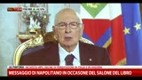 16/05/2013 - Messaggio di Napolitano in occasione del salone del libro