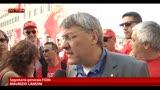 Manifestazione Fiom, Landini: parte sana del paese