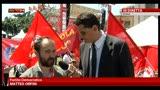 Manifestazione FIOM per lavoro a Roma, parla Matteo Orfini