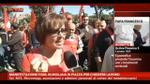 Manifestazione FIOM, migliaia in piazza per chiedere lavoro