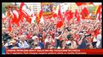 Piazza San Giovanni colma per la manifestazione della FIOM