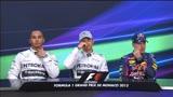 Gp Monaco: parlano i tre protagonisti delle qualifiche