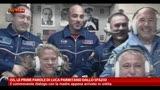 ISS, le prime parole di Luca Parmitano dallo spazio