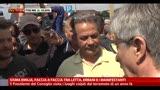 Imola, faccia a faccia tra Letta, Errani e i manifestanti