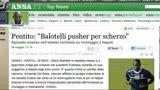 """31/05/2013 - Balotelli, un pentito: """"Pusher per scherzo"""""""