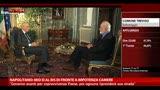 """Napolitano: """"mio si al bis di fronte a impotenza camere"""""""