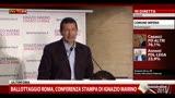 Ballottaggio Roma, conferenza stampa di Ignazio Marino