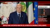 Napolitano: Incontro tra i Ministri UE è intelligente