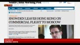 23/06/2013 - Datagate, stampa Hong Kong: Snowden in volo per Mosca