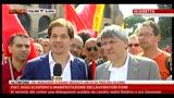 28/06/2013 - Sciopero Fiat a Roma, intervista a Landini