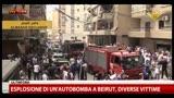 Esplosione di un'autobomba a Beirut, diverse vittime