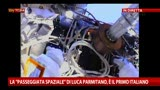 """La """"passeggiata spaziale"""" di Parmitano, è il primo italiano"""