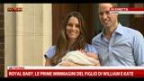 23/07/2013 - Royal baby, le prime immagini del figlio di William e Kate