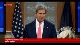 """26/08/2013 - Kerry: """"Usate armi chimiche, scosse le coscienze del mondo"""""""