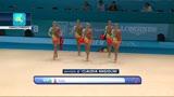 31/08/2013 - Mondiali ginnastica ritmica, Farfalle azzurre d'argento