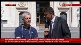 Protesta deputati M5s, intervista a Nicola Morra