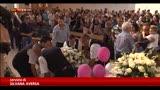 Gela, funerale della bimba morta a Tor Vergata