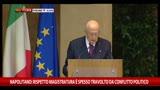 """Magistratura-Politica, Napolitano: """"Conflitto da spegnere"""""""