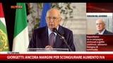 28/09/2013 - Napolitano: Non c'è bisogno di continue campagne elettorali