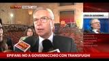 30/09/2013 - Epifani: no a governicchio con transfughi