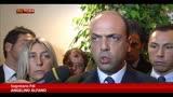 """Alfano:""""Bene l'incontro con Berlusconi, ci chiariamo sempre"""""""