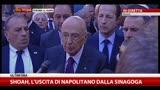 16/10/2013 - Shoah, l'uscita di Napolitano dalla sinagoga