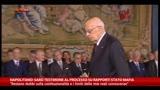 """31/10/2013 - Napolitano: """"Sarò testimone al processo su Stato-mafia"""""""