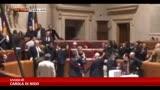 25/11/2013 - Roma, rissa in consiglio comunale, sindaco colpito da Rossin
