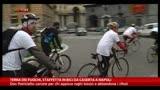 30/11/2013 - Terra dei fuochi, staffetta in bici da Caserta a Napoli