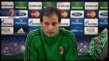 """Milan, Allegri: """"Buon momento, non pensiamo al pareggio"""""""