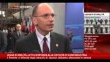 Letta:unione bancaria buon compromesso,bicchiere mezzo pieno