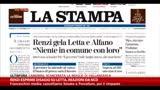 30/12/2013 - Renzi esprime disagio su Letta, reazioni da NCD