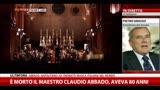 Addio al maestro Claudio Abbado