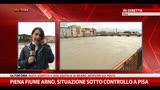 Piena fiume Arno, situazione sotto controllo a Pisa