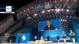 Sochi, la premiazione della Fontana