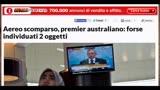 20/03/2014 - Aereo scomparso Malesia: la rassegna stampa