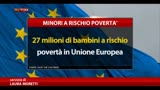 Save the Children: 27 mln di bambini a rischio povertà