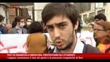 23/04/2014 - Test di ingresso a Medicina, protestano gli studenti