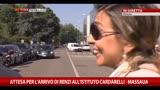 Attesa per l'arrivo di Renzi all'Istituto Cardarelli-Massaua