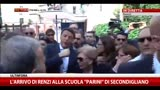 L'arrivo di Renzi alla scuola Parini di Secondigliano