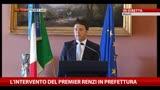 L'intervento del premier Renzi in prefettura