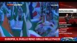 23/05/2014 - Europee, continua il duello Renzi-Grillo nelle piazze