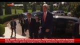 24/06/2014 - Iraq, Kerry incontra il presidente curdo Massoud Barzani